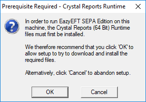 Cannot Detect Crystal Reports Runtime